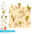 sandy landscape and palms set vector image