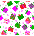 seamless gift boxes vector image vector image