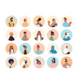 set mix race people avatars men women portraits vector image