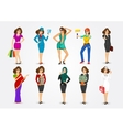 set of 10 professions vector image vector image