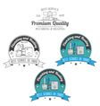 Set of plumbing and heating vintage labels Outdoor vector image vector image