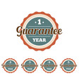 set of vintage guarantee badges vector image