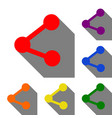 share sign set of red orange vector image