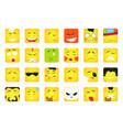 smiles set emoticons or emoji vector image