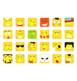 smiles set of emoticons or emoji vector image
