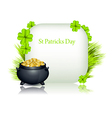St Patricks day design vector image vector image