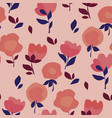 summer floral motif in coral colors vector image vector image