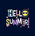 sun and summer icons print design with slogan vector image vector image