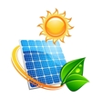 Sustainable solar energy concept vector image vector image
