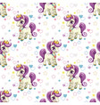 sweet pony print seamless pattern with cute vector image vector image