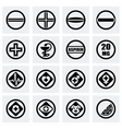 Tablet icon set vector image