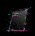 tablet low poly wb vector image vector image
