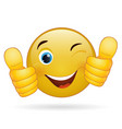 Thumb up emoticon yellow cartoon sign facial