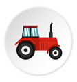 tractor icon circle vector image vector image