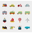 Transport flat icons vector image vector image