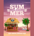 tropical bar advertisement poster vector image