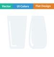 Two glasses icon vector image vector image