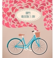 Valentine card with bike vector image vector image