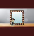 vanity mirror makeup vanity frame vector image vector image