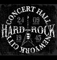 vintage hard rock typographic for t-shirt tee vector image