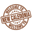 welcome to new caledonia brown round vintage stamp vector image vector image