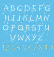 white winter alphabet vector image vector image
