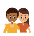 young couple of friends vector image vector image