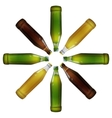 Realistic bottles of beer vector image