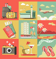 summer travel or holiday vacation ocean vector image