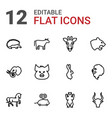 12 mammal icons vector image vector image