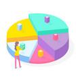 3d pie diagram pie chart isometric infographics vector image vector image