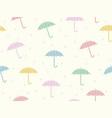 a seamless umbrellas background vector image vector image