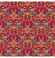 abstract polygonal mosaic floral pattern vector image vector image