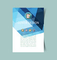 abstract report cover 2 vector image vector image