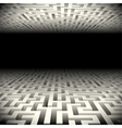 Abstract white perspective labyrinth in the vector image
