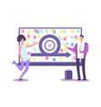 agile method presentation businesspeople vector image vector image