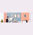 architect drawing blueprint urban building plan on vector image