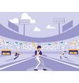 baseball sport stadium scene vector image