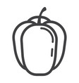 bell pepper line icon vegetable and sweet vector image vector image