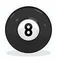 Billiard eight ball vector image vector image