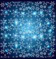 blue elegant christmas background with snowflakes vector image