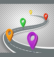 business roadmap 3d pointers on transparent vector image vector image