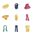 Casual women clothes icons set cartoon style vector image vector image