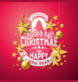christmas and new year vector image vector image