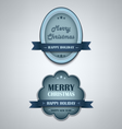 Christmas blue vintage retro design style element vector image vector image