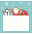 Christmas card with Santa Claus and friends vector image vector image