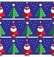 Christmas geometric pattern with santa vector image vector image