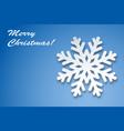christmas greeting card winter snowflake vector image vector image