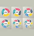 circle arrows sign infographic set vector image vector image