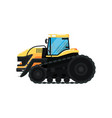 crawler agriculture tractor vector image vector image